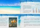 """แจกฟรีธีม PowerPoint """"Sea Template"""" ลายทะเลสวยๆ"""